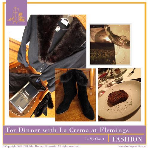 Outfit 2: #AltSummit #SponsorDinner #LaCrema #DKNY #Fur #BFGoodrich
