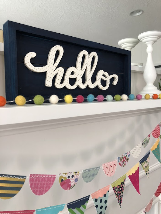 Summer Mantel and Hello Word Art Tutorial - make it for your home!