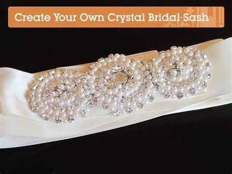 Create Your Own Stunning Crystallized Bridal Sash step by