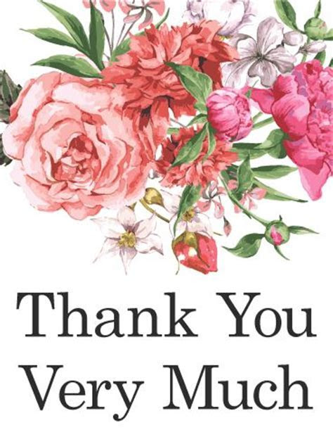 Traditional, yet beautiful, this thank you card says thank