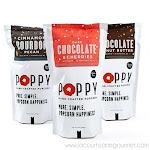 Poppy Handcrafted Popcorn - Premium Sweet 9.25 oz Dark Chocolate and Cherries