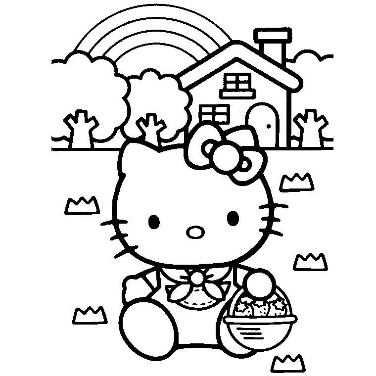 Dessin A Imprimer De Hello Kitty Az Coloriage