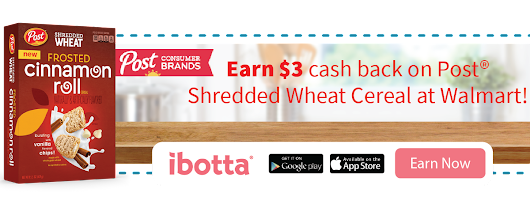 Earn $3 Cashback When You Buy 2 Post® Shredded Wheat Cereals at Walmart!
