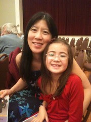Mom and Dova at her first Chamber Music Concert