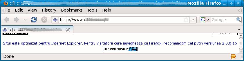 keep internet explorer
