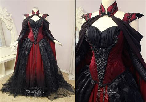 Crimson Moon Dragon Gown by Lillyxandra dress ballgown