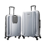 American Tourister Fender 2-piece Hardside Spinner Luggage Set, Silver