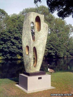 Barbara Hepworth's Rock Form (Porthcurno)