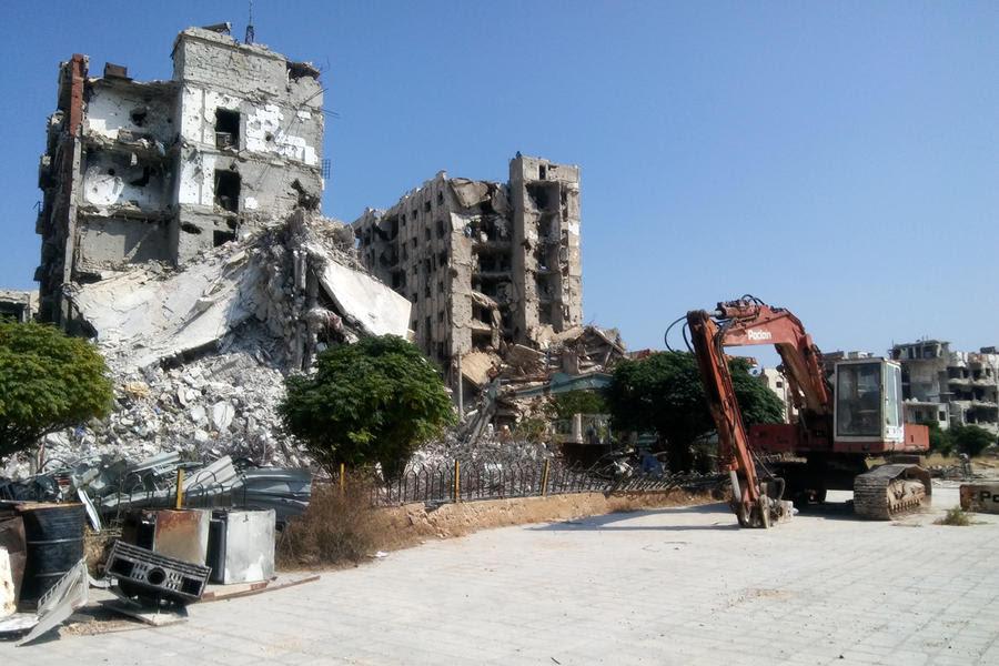 La mayoría de los barrios y sectores afectados, como Al Waer en Homs, ya han sido desescombrados. Ahora toca rehabilitar las viviendas afectadas (Foto: Pablo Sapag M.)