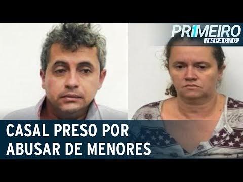 Casal é preso acusado de aliciar e abusar de meninas de 7 a 13 anos