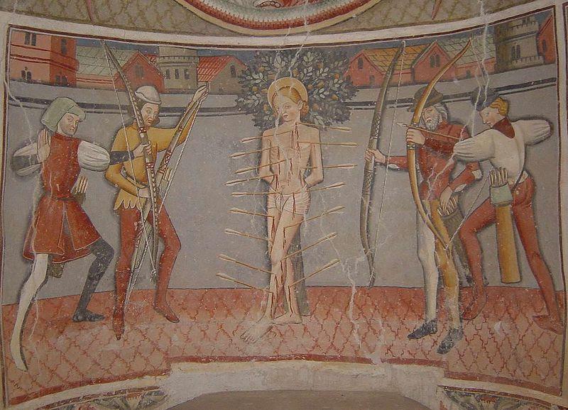 File:Giovanni Baleison - Main altar in the Cappella San Sebastiano - detail.jpg
