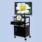 VTI FDCAB4226E Mobile Cabinet with 37 inch TV Mount and Drawer