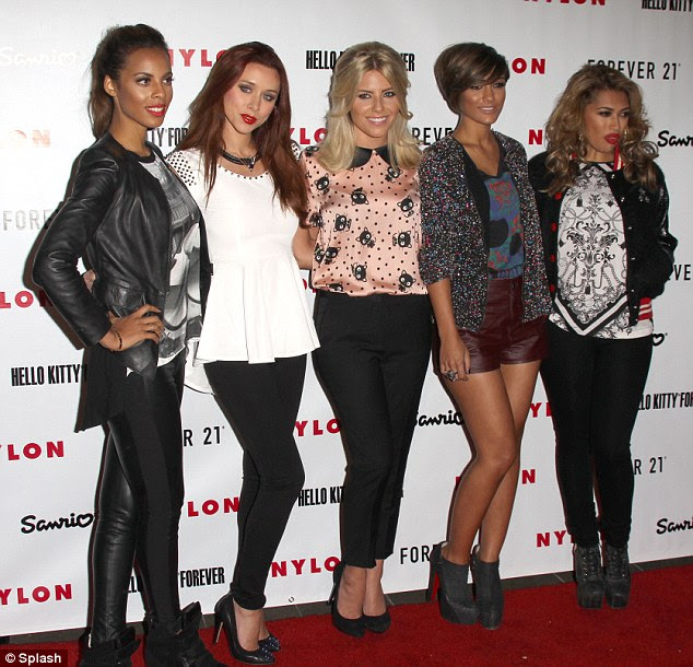 Wrong turn: The Saturdays arrived at the less than glitzy Nylon Magazine party, on Monday night, as they continued their quest for fame in America