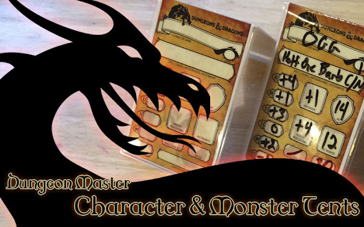 Dungeon Master - Tent Cards for Characters and Monsters