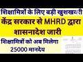 Shikshamitra latest news :- शिक्षा मित्र लेटेस्ट न्यूज शिक्षामित्रों के लिए MHRD द्वारा शासनादेश जारी