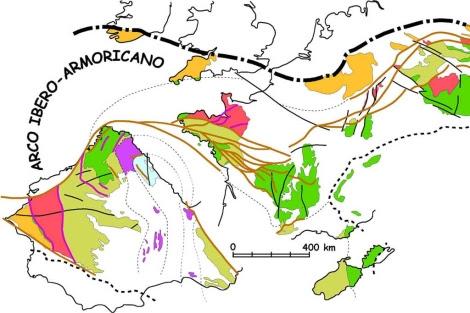 Gráfico sobre la formación de la Península Ibérica. |Divulga