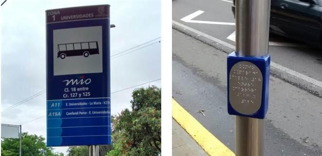 Con información en braille, el MIO destaca como transporte incluyente