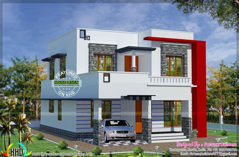 sq ft  budget modern home kerala home design