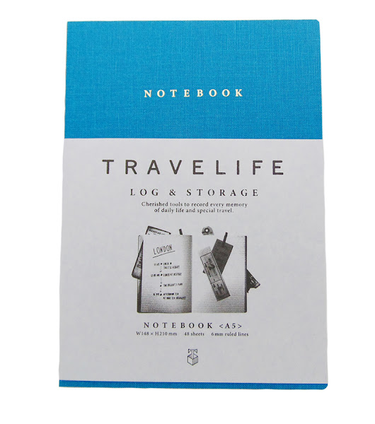 A5 Blue Notebook TraveLife - Bookish Freaks