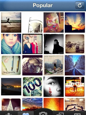 Fotos populares do Instagram, o aplicativo para iPhone (Foto: Reprodução)