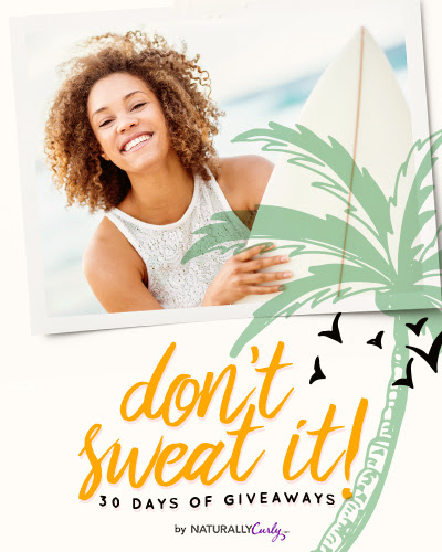 Enter to win Curly Hair prizes: Don't Sweat It Summer 2016 Giveaway http://www.naturallycurly.com/giveaways/Dont-Sweat-It-Summer-Giveaway