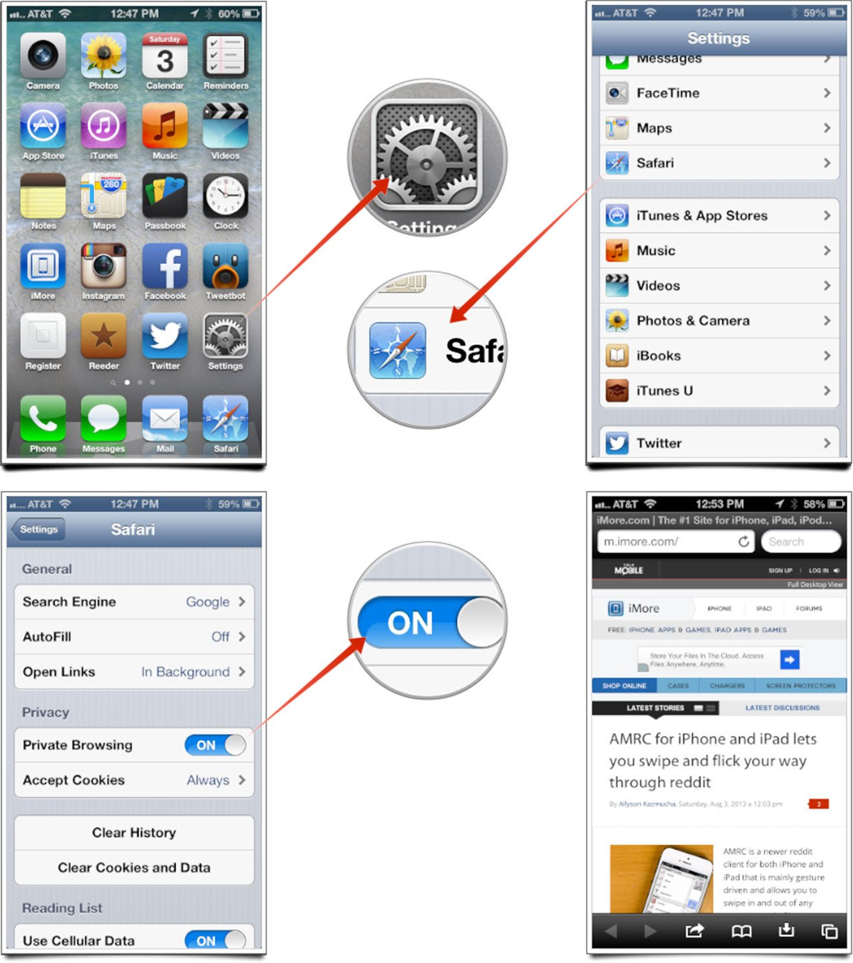 How to enable and use private browsing in Safari for iOS ...