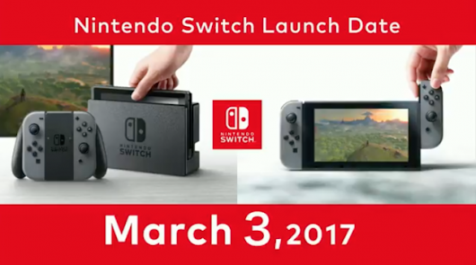 Nintendo Switch Release Date: March 3rd! - NintendoToday