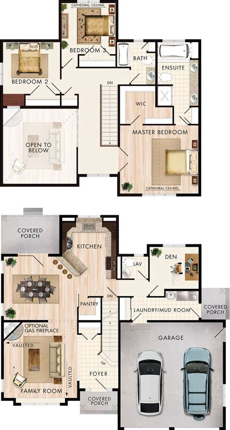 sq ft house plans  bedroom double story floor