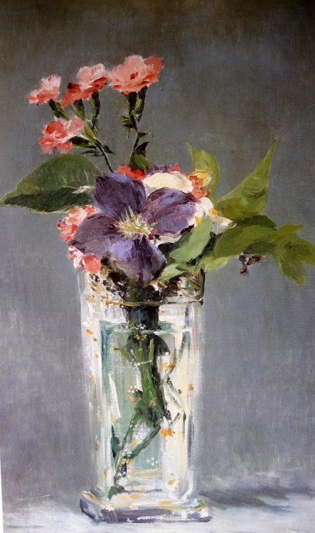 peira:  Edouard Manet:  Carnations and Clematis in a Crystal Vase (c.1882)