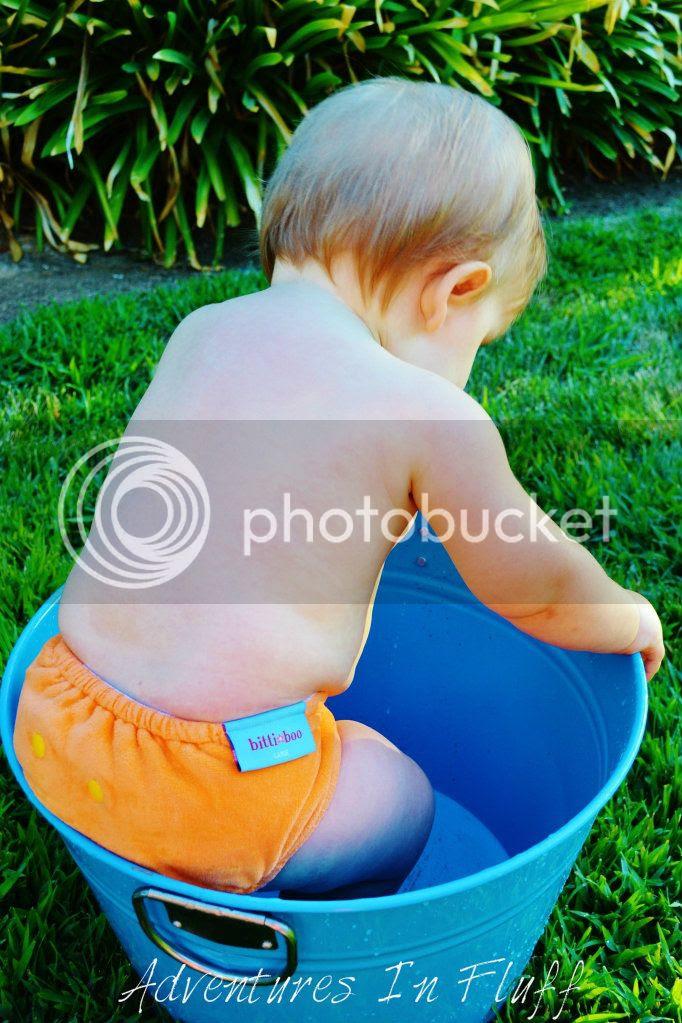 itti bitti bitti boo fitted cloth diaper - on my baby