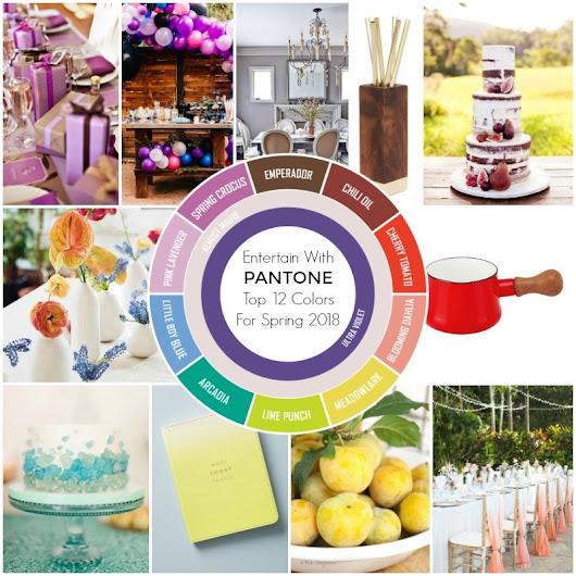 Entertain With PANTONE Colors For Spring 2018 - Revel and Glitter