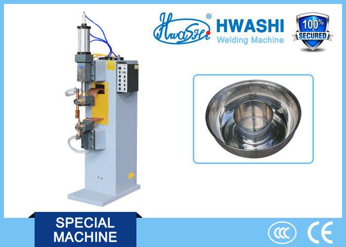 Peralatan Dapur Pneumatik Mesin Spot Welding 100mm Elektroda Stroke 24000a
