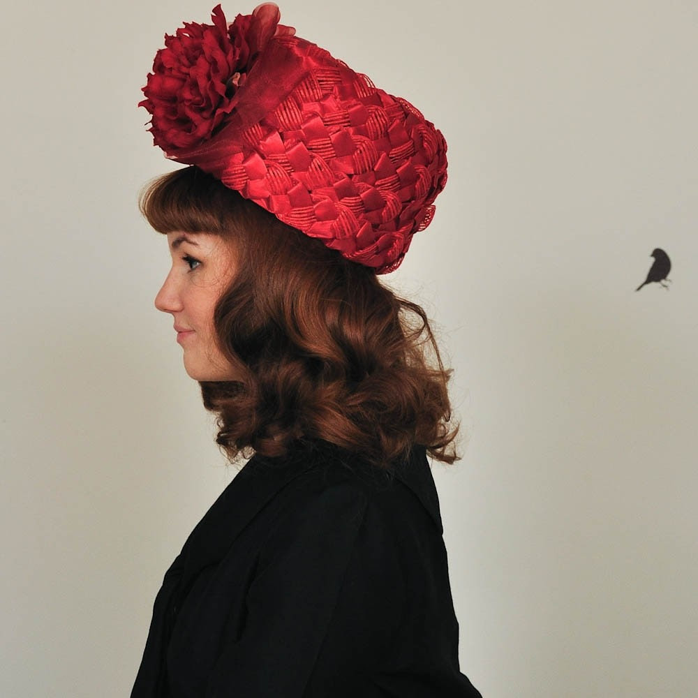 The 1960s Marche Raffia Helmet Hat