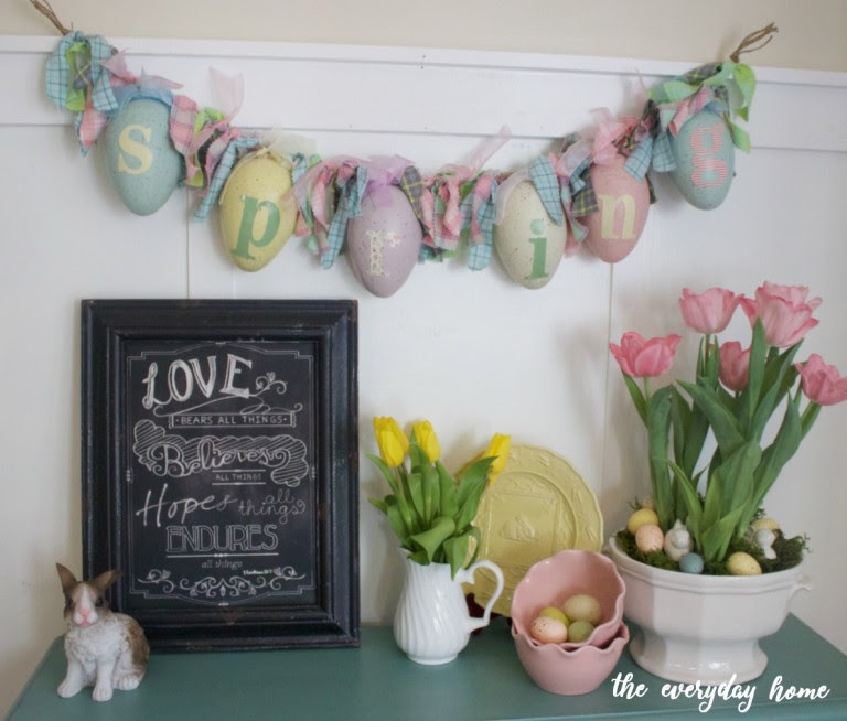 Easter Vignette | The Everyday Home