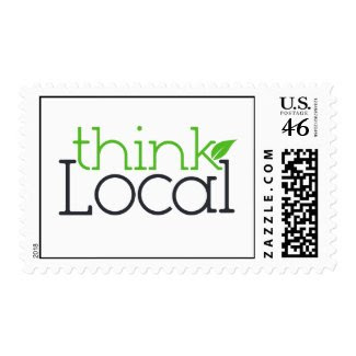 Think Local Stamp stamp