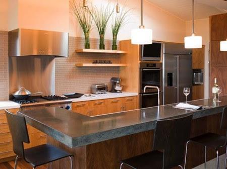 Kitchen Concrete Countertops 06 1 Kindesign