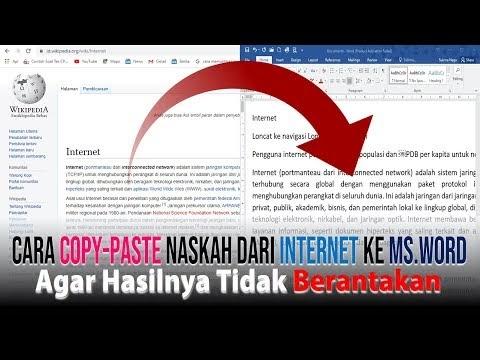 Cara Copy Paste Teks dari Internet ke Word agar Tidak Berantakan