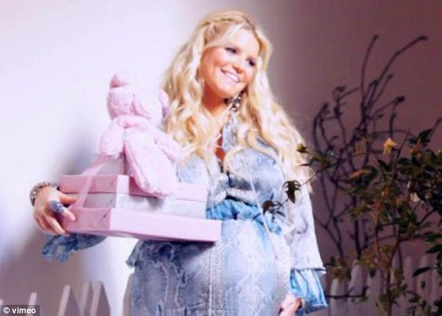Girl power: The star received plenty of pink gifts ahead of her daughter's arrival