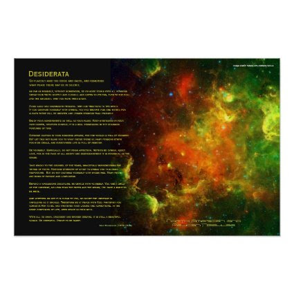 Desiderata - North American and Pelican Nebulae Posters