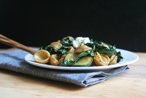 orecchiette with kale + balsamic coconut dressing