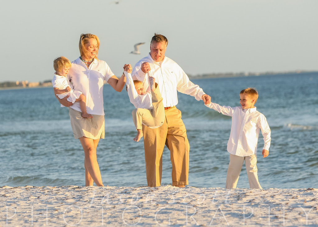 Schwingler Family on Siesta Key, October 2012