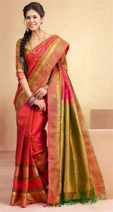 9 Trendy Kanchipuram Bridal Silk Sarees for Your Big Day
