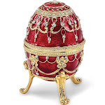 Bejeweled Imperial Red Musical Jewelry Egg - BJ2062R