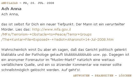 Mein Kommentar bei Anna Kühne