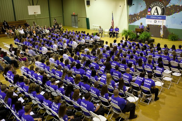 FEMA Corps members at induction ceremony