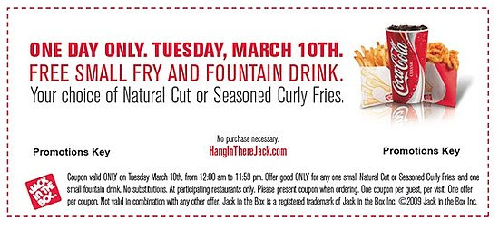 Score Free Jack in the Box Tuesday March 10 | POPSUGAR Food