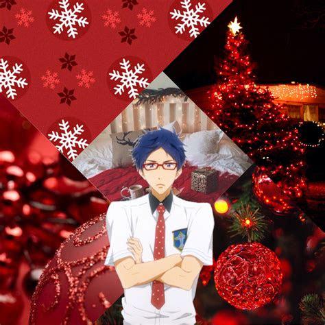 merry christmas christmas anime aesthetic red tumbl
