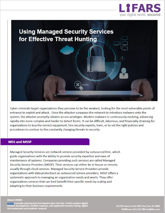 Using Managed Security Services (MSS) to progress Threat Hunting