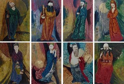 Bát Tiên - Tranh nghệ thuật của họa sĩ đương đại