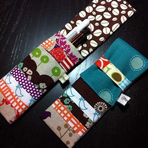 Zakka pencil cases by Poppyprint